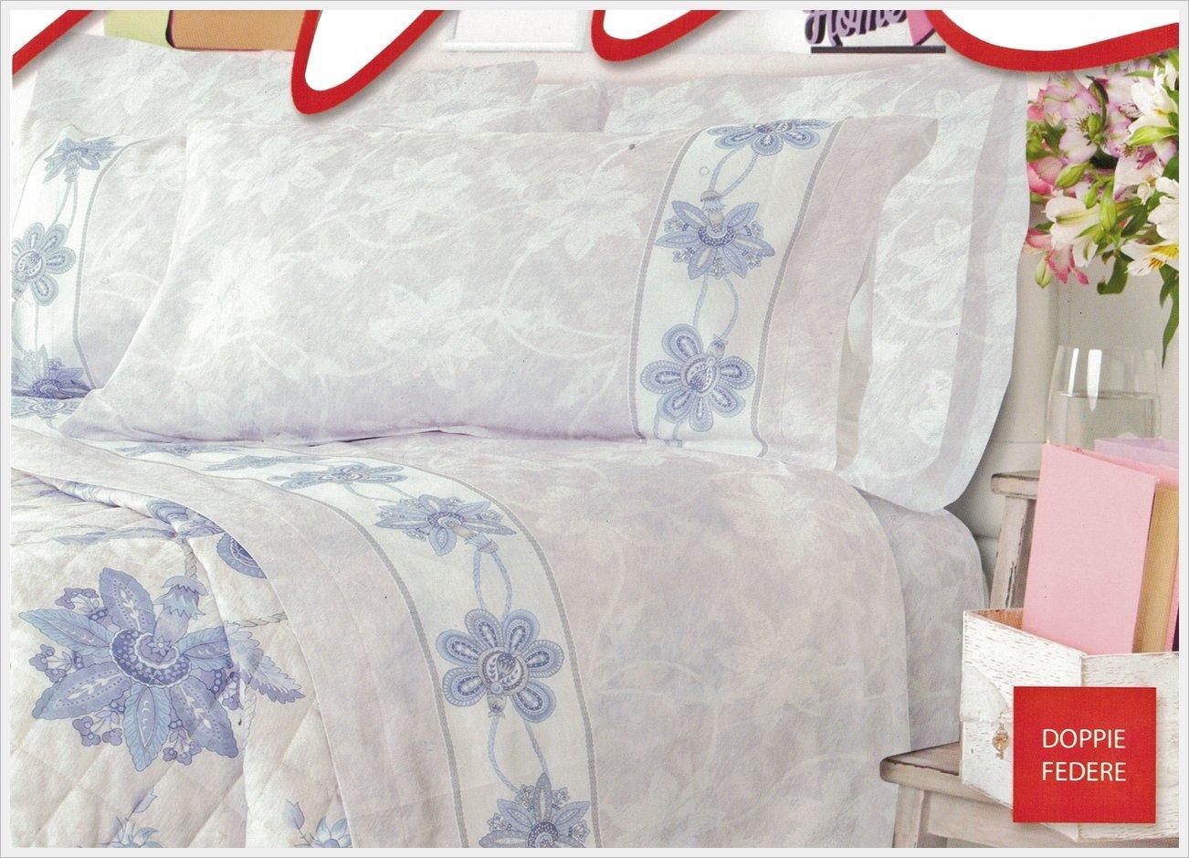 FRISE/' Matrimoniale 100/% Cotone Percalle 70 Fili Completo lenzuola MAE 4 Federe